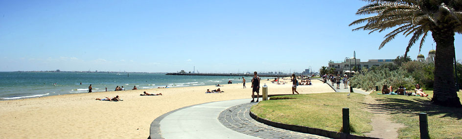 Beautiful sandy beaches and historical buildings make St Kilda a very popular seaside place for all ages.